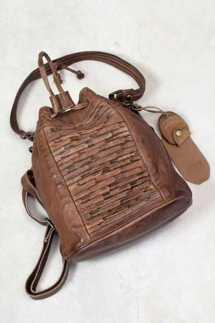 Pure Leather Sling Bag Front Stripes Design- Mid Brown #handicraft ...
