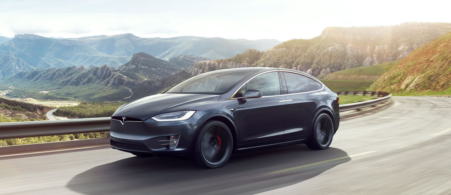 Tesla model x makes grand entrance wows with features cf blog tesla motors pinterest tesla motors cars and dream cars