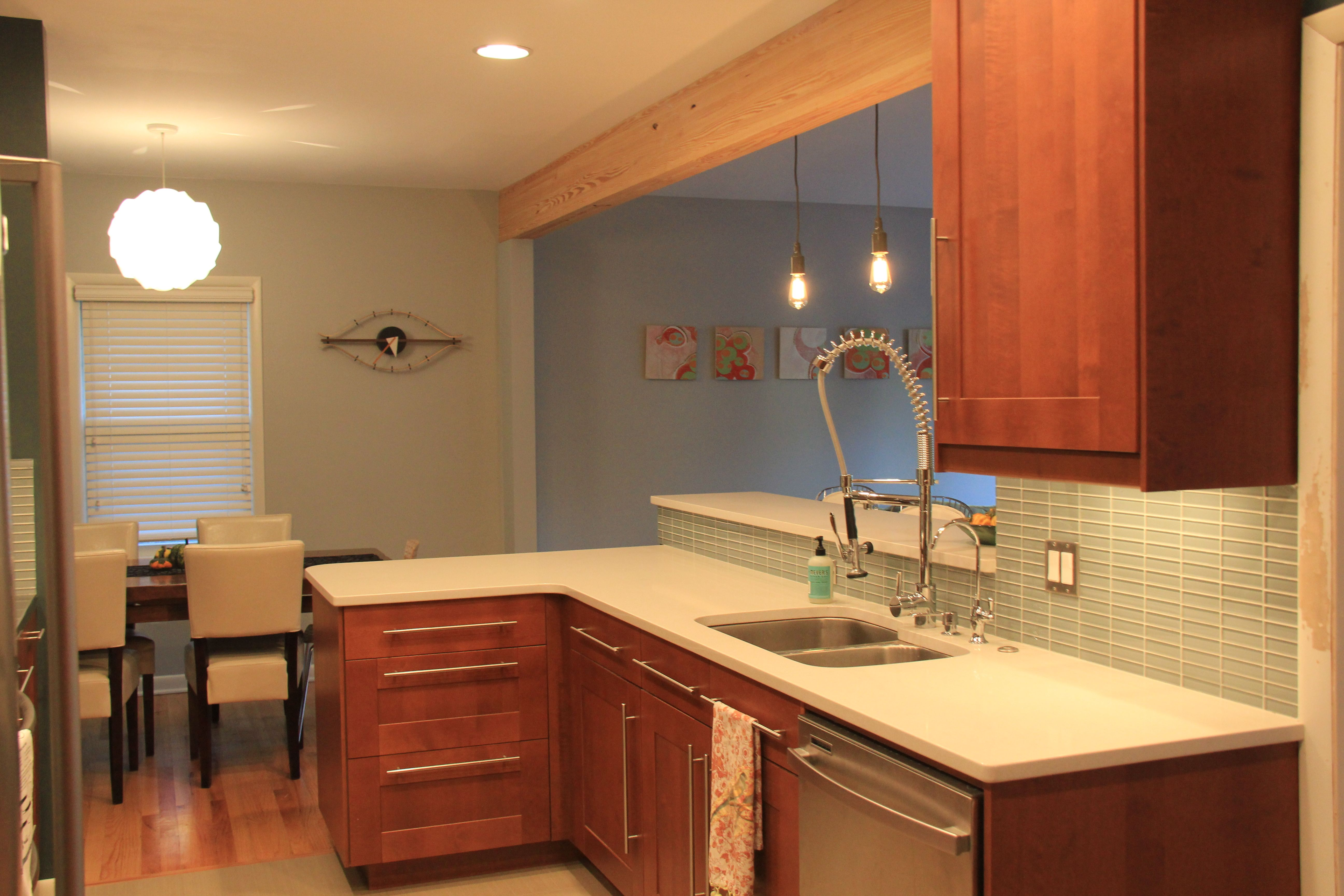Galley Kitchen Remodelafter These Are Ikea Cabinets Custom Custom Bathroom Remodeling Omaha Design Ideas
