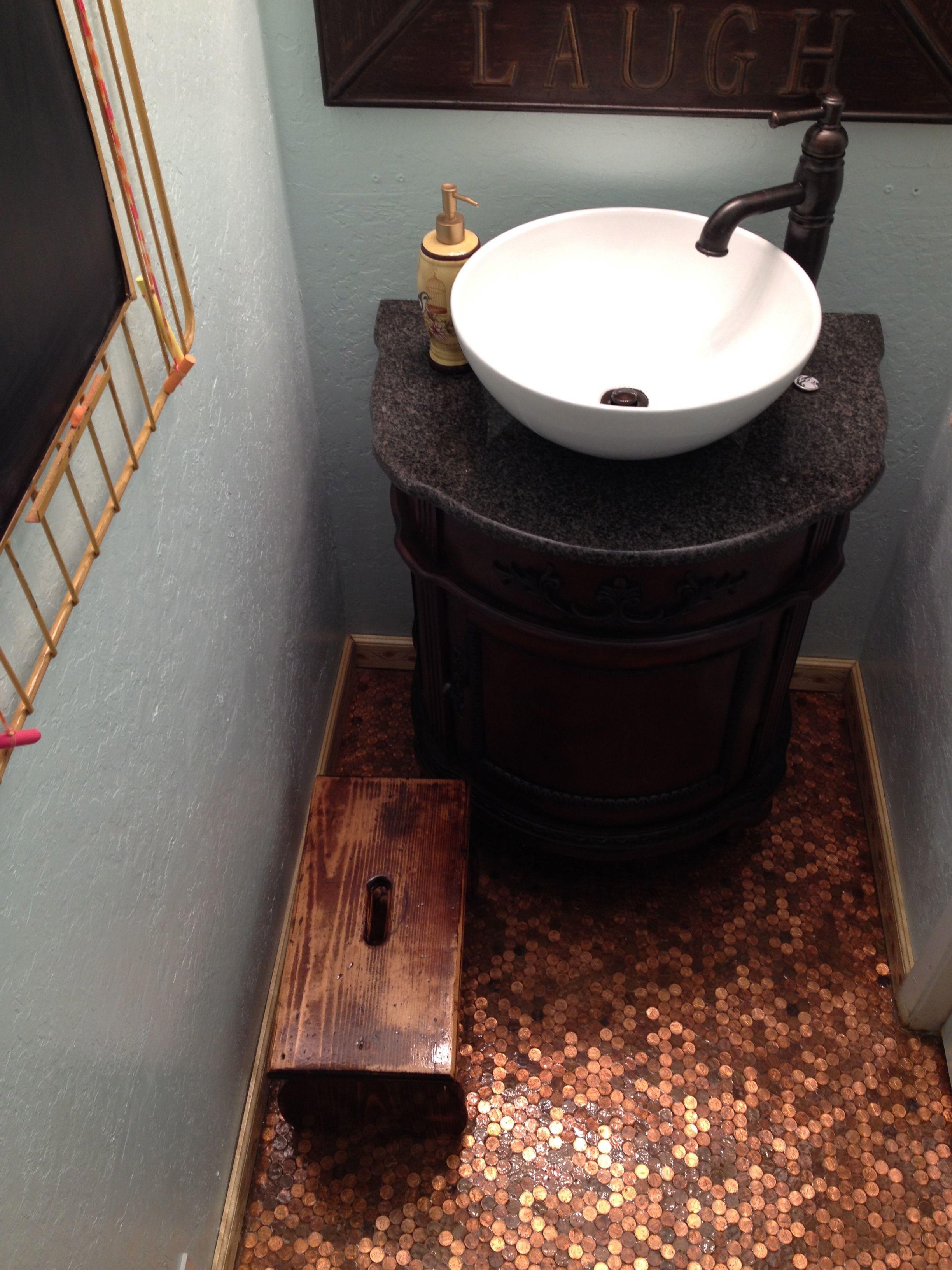 Penny Floor Amp Vessel Sink Downstairs Toilet Flooring