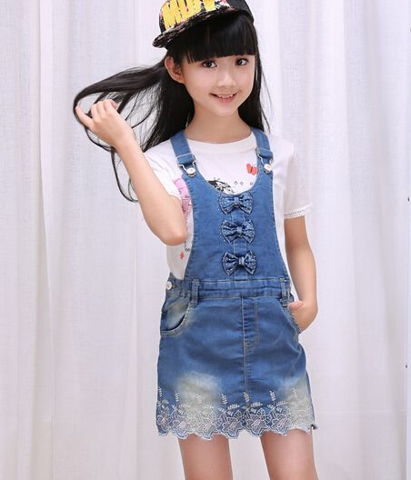 471b98b31c 2016 autumn children s clothes girls overall skirts causal baby girl strap  skirts for girls big kids denim short skirts