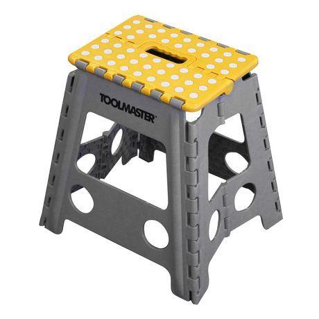 Brilliant Toolmaster 2Pk Folding Step Stool One Large Step Stool And Inzonedesignstudio Interior Chair Design Inzonedesignstudiocom