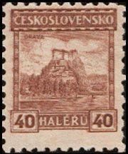 Sello: Orava castle (Checoslovaquia) (Castles, landscapes and cities) Mi:CS 259,Sn:CS 127,Yt:CS 231,AFA:CS 124,POF:CS 218