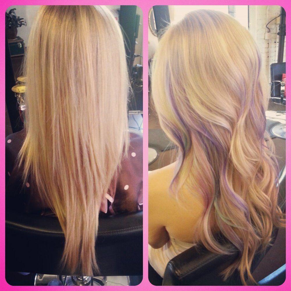 Blonde Hair Purple Highlights Spefashion
