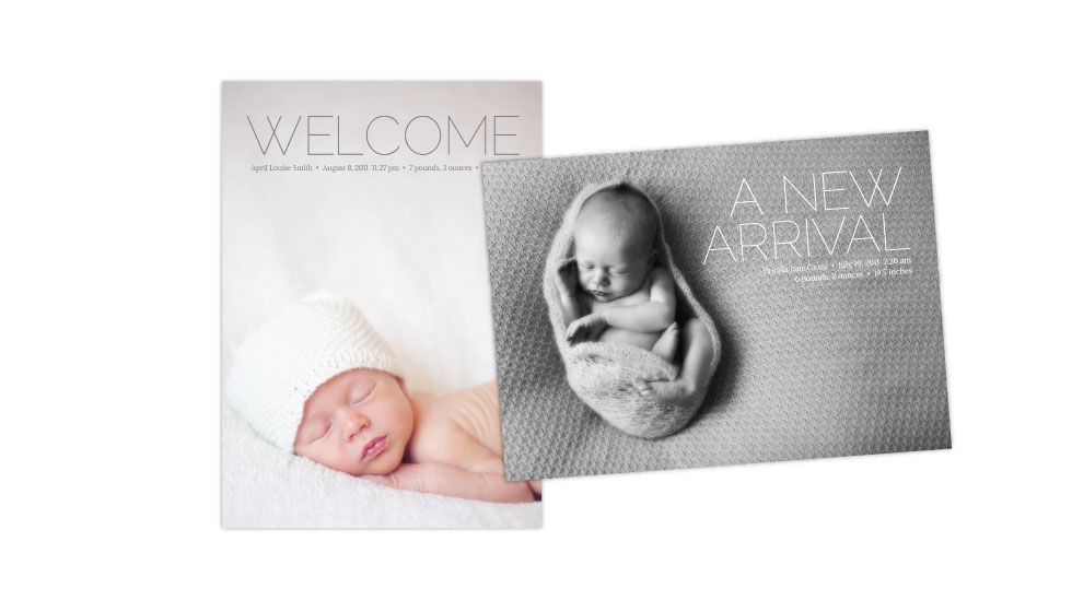 cute, simple graphic birth announcement by Swoone (With ...