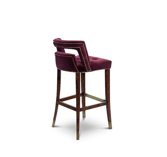NAJ Bar Chair Contemporary Design Velvet Bar Stool By BRABBU. Furniture We  Love At Design