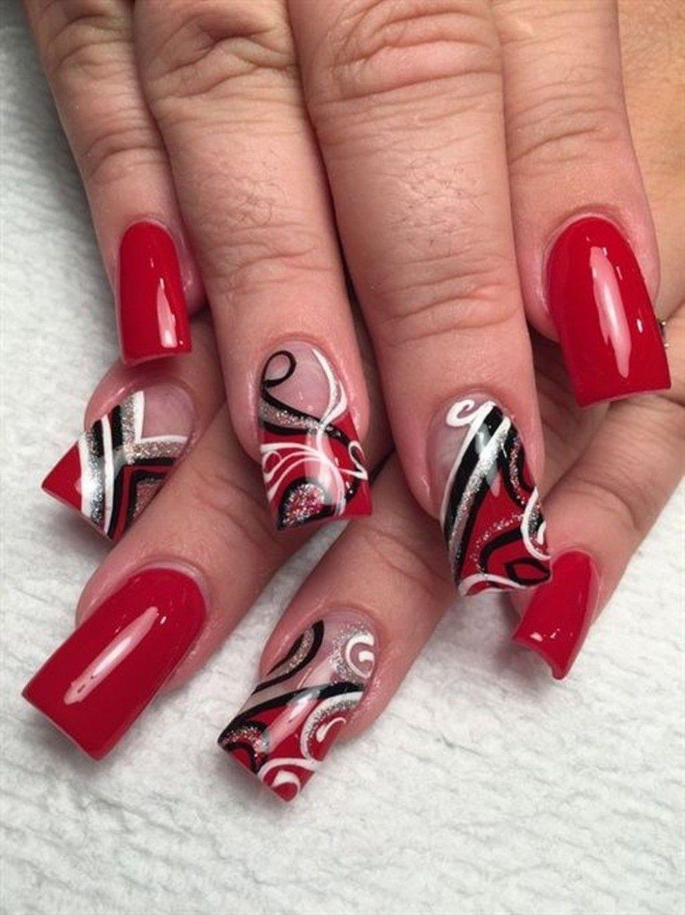 50 Susse Rote Nagel Kunst Fur Ihren Valentinstag In 2020 Mit Bildern Rote Fingernagel Weihnachtsnagel Rote Nagel