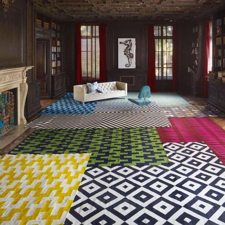 designer teppich mit konturenschnitt modern beige creme, Wohnzimmer design