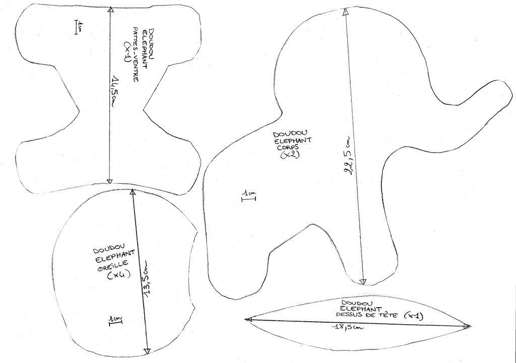 patron couture doudou hibou