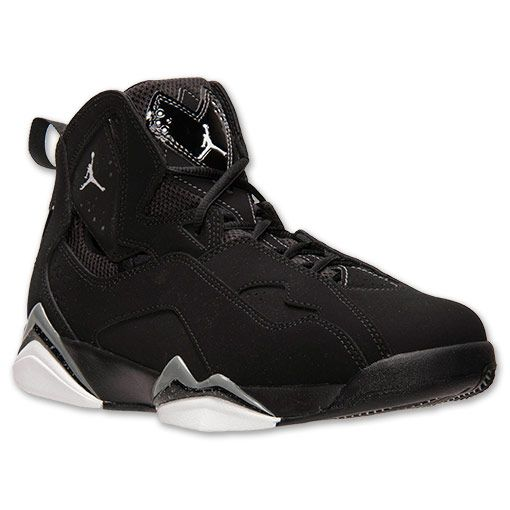 low priced 76ef5 2c79d Men s Jordan True Flight Basketball Shoes - 342964 010   Finish Line   Black  White Cool Grey