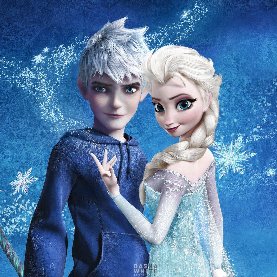 Jack And Elsa Jelsa By Dashawhite Jack Frost And Elsa Jack