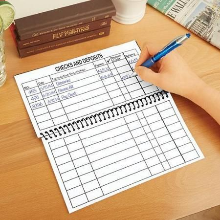Jumbo Large Print Checkbook Register Balancing Checkbook  School