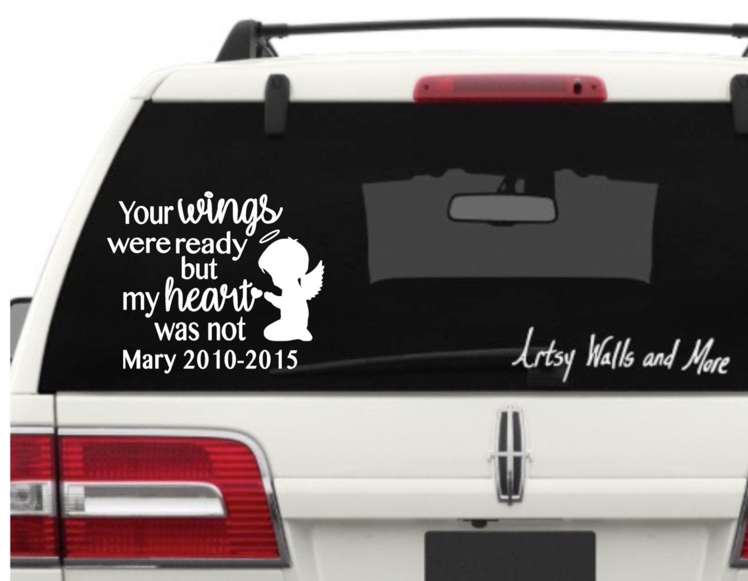 Your Wings Were Ready But My Heart Was Not Car Window Vinyl Etsy Window Vinyl Car Window Car Window Decals [ 1160 x 1492 Pixel ]