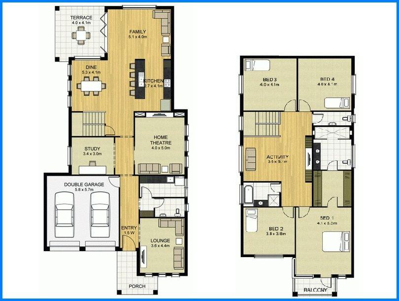 14 Denah Rumah Minimalis 2 Lantai Modern Sederhana 2019 Dekor Rumah Denah Lantai Rumah Modern Denah Lantai Rumah