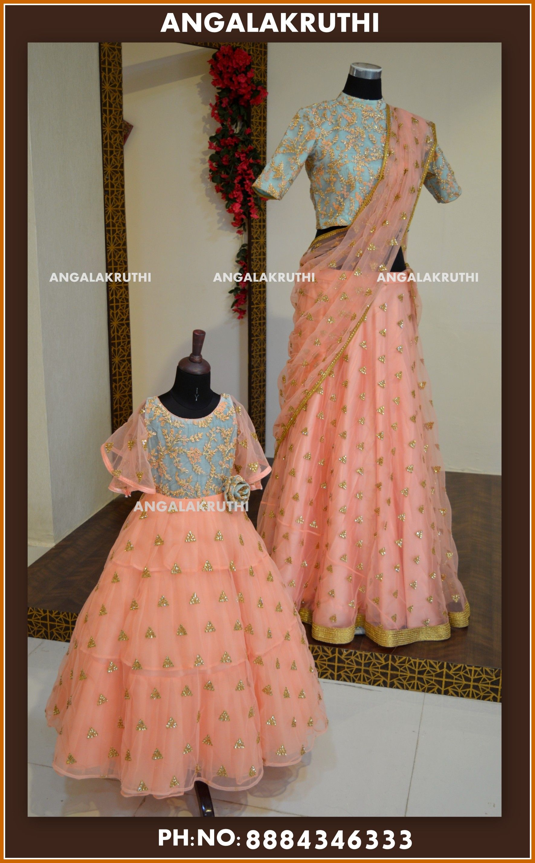 Mother And Daughter Dress Designs In Bangalore Boutique Mother Daughter Dresses Matching Kids Designer Dresses Mom Daughter Matching Dresses