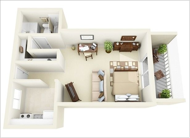 One Bedroom Apartment Plans And Designs Impressive A Small Space Doesn't Have To Be Boring If It Is Designed In A Decorating Design