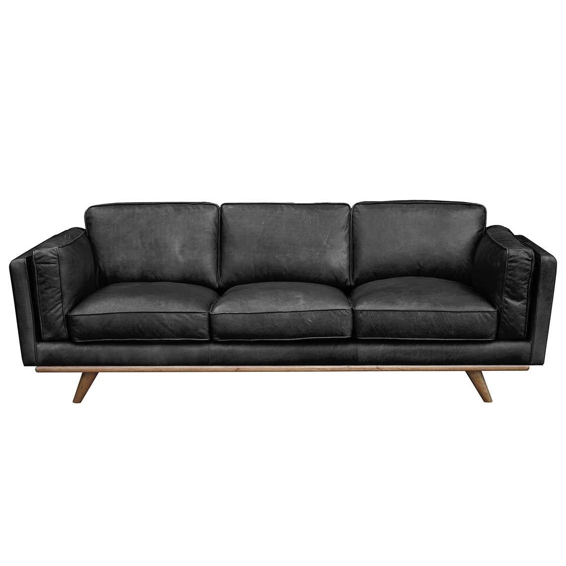 Dahlia 3 Seat Leather Sofa Dahlia 3 Seat Leather Sofa Black Products Leather Sofa Black
