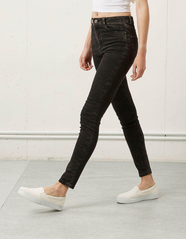 f66c766a532e Super Skinny High waist jeans Bershka - High Waist - Bershka Czech Republic