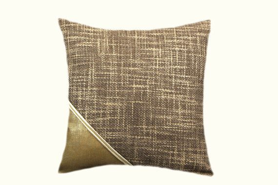 Decorative Pillow Case Textured Fabric With Gold Fabric Accent Impressive Fabric For Decorative Pillows