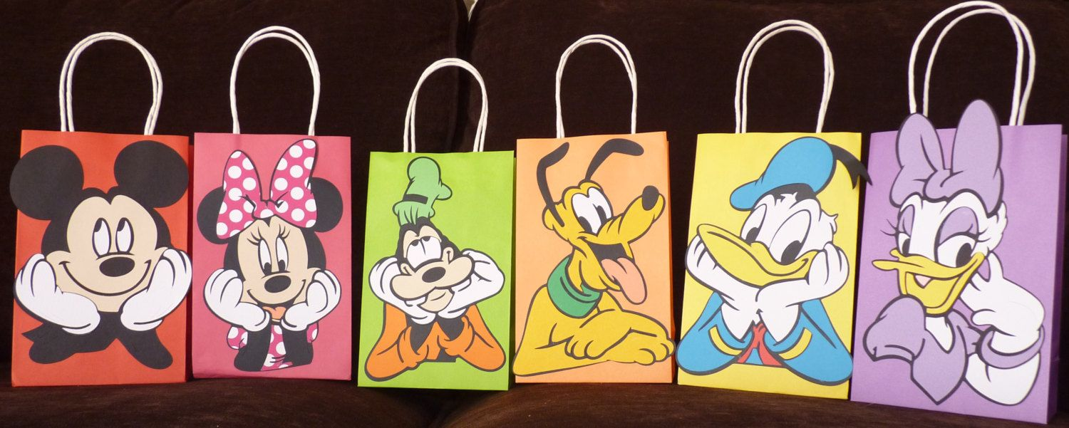 Mickey+Clubhouse+Favor+Bags+by+SophiesPartyGoods+on+Etsy,+$26.00
