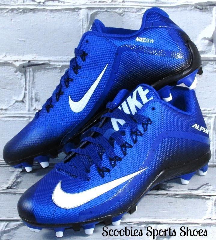 Nike Alpha Pro 2 TD NikeSkin Football Cleats Size 10 Blue