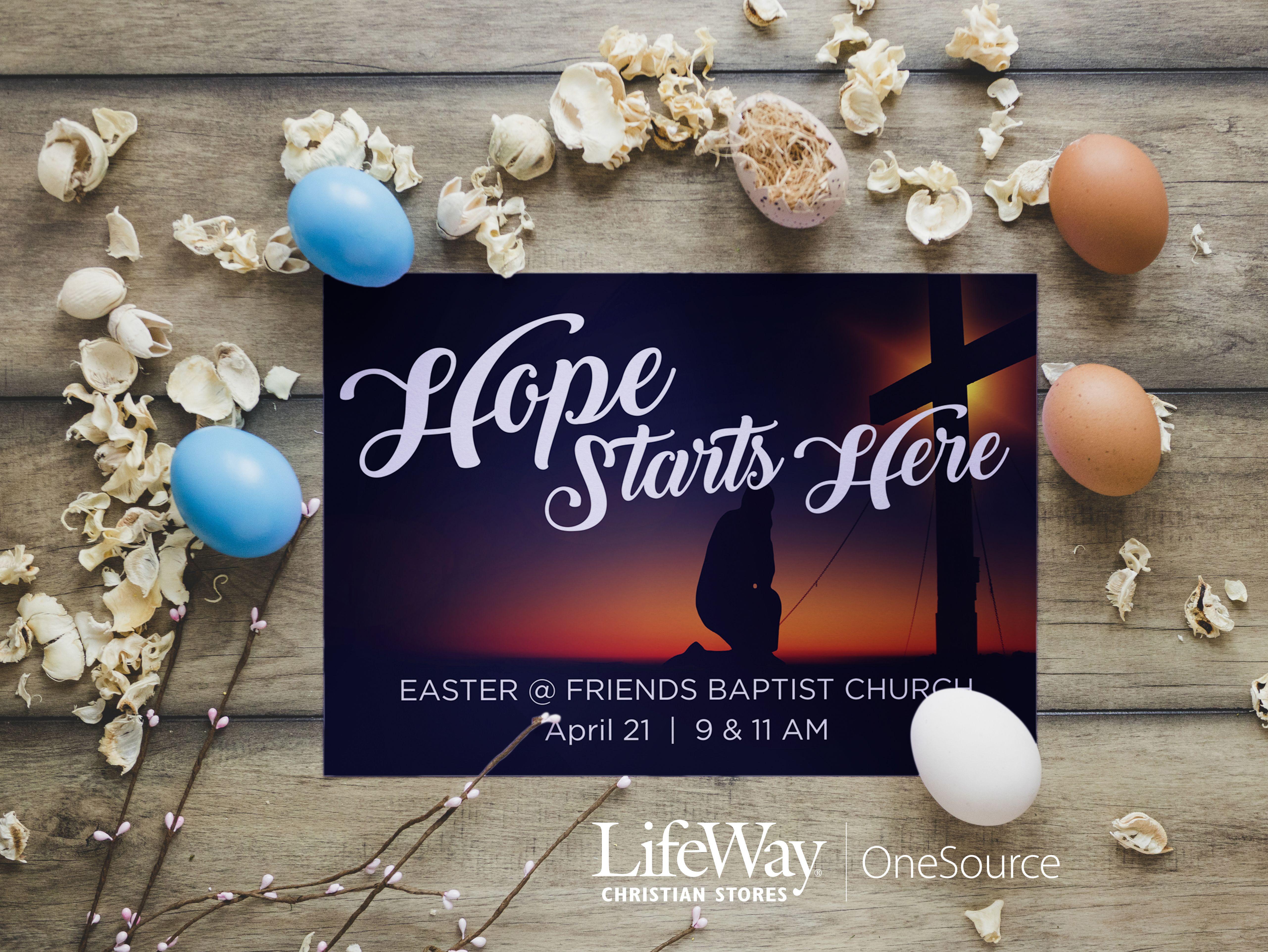 Easter Postcard Invitation | No minimum quantities or set up