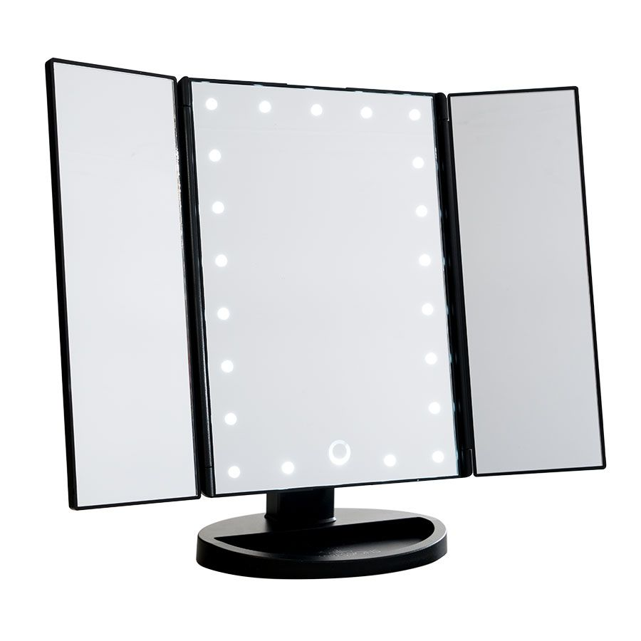 Touch Trifold Dimmable Led Makeup Mirror Led Makeup