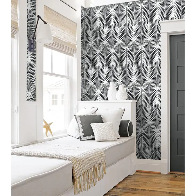 Nextwall 30 75 Sq Ft Black Sands Vinyl Ivy Vines Self Adhesive Peel And Stick Wallpaper Lowes Com Peel And Stick Wallpaper Smooth Walls Home