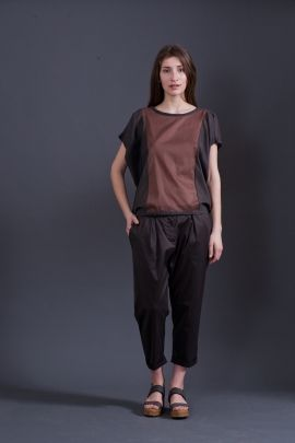 Brown t-shirt | Adelina Ivan Studio