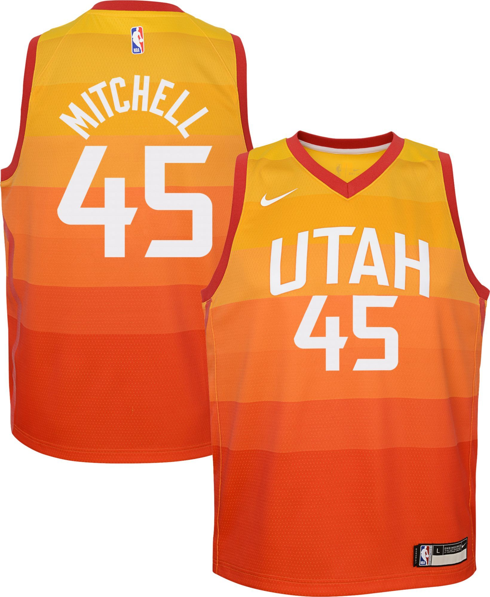 new concept 0a595 b788d Nike Youth Utah Jazz Donovan Mitchell Dri-FIT City Edition ...