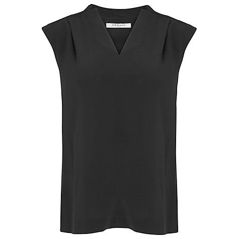 Buy L.K. Bennett Norway Silk Top, Black Online at johnlewis.com