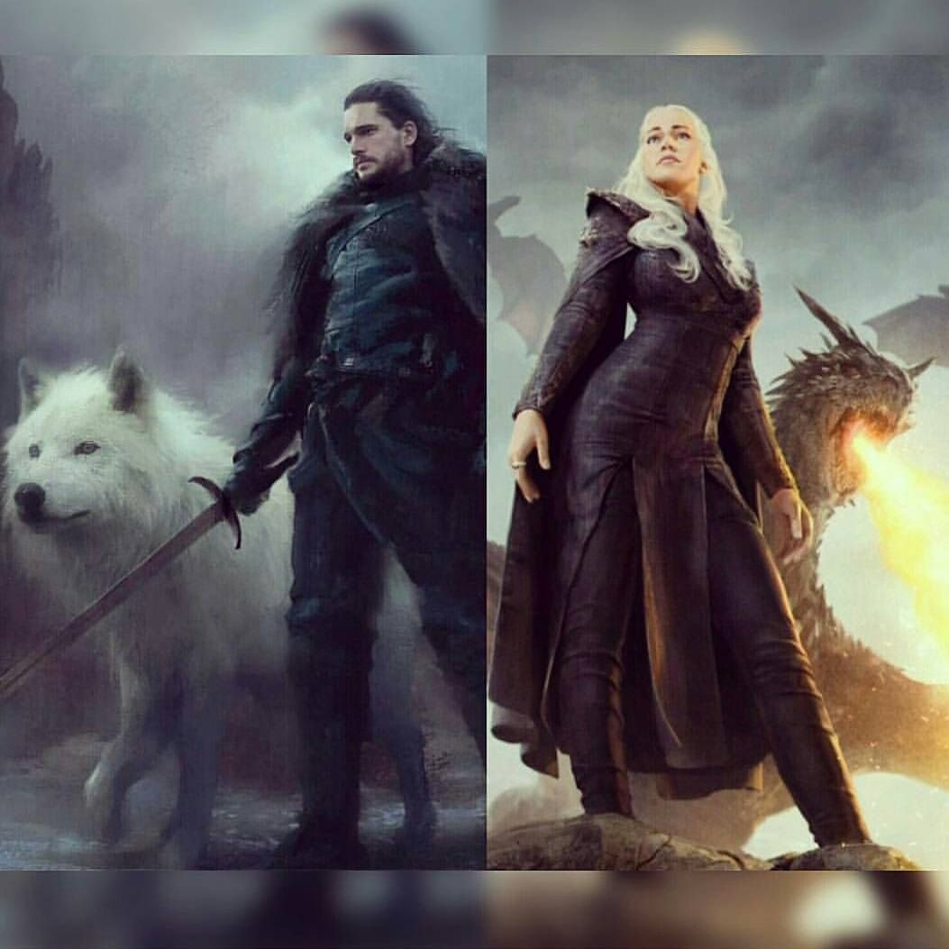 Jon And Dany Fan Art Jon Snow Art Jon Snow And Daenerys Fan Art