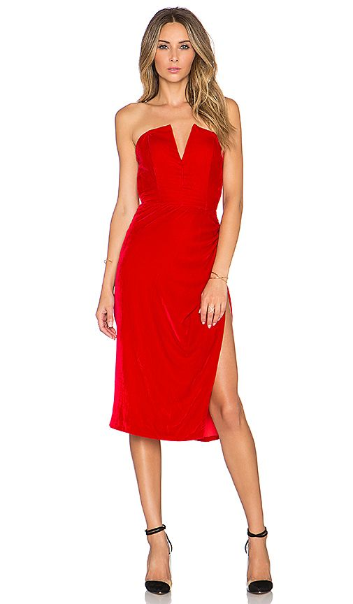 NBD First Attraction Dress in Red | REVOLVE