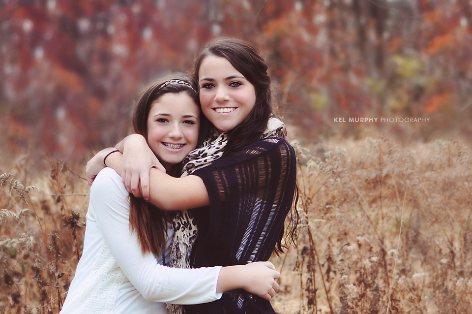 Remarkable idea Beautiful teen sisters in woods for