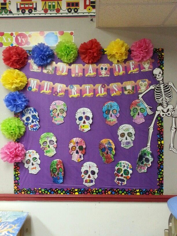 Spanish 1 Classroom Decorations ~ Dia de los muertos bulletin boards pinterest