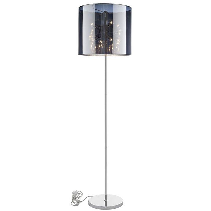 Lexmod arena floor lamp in silver