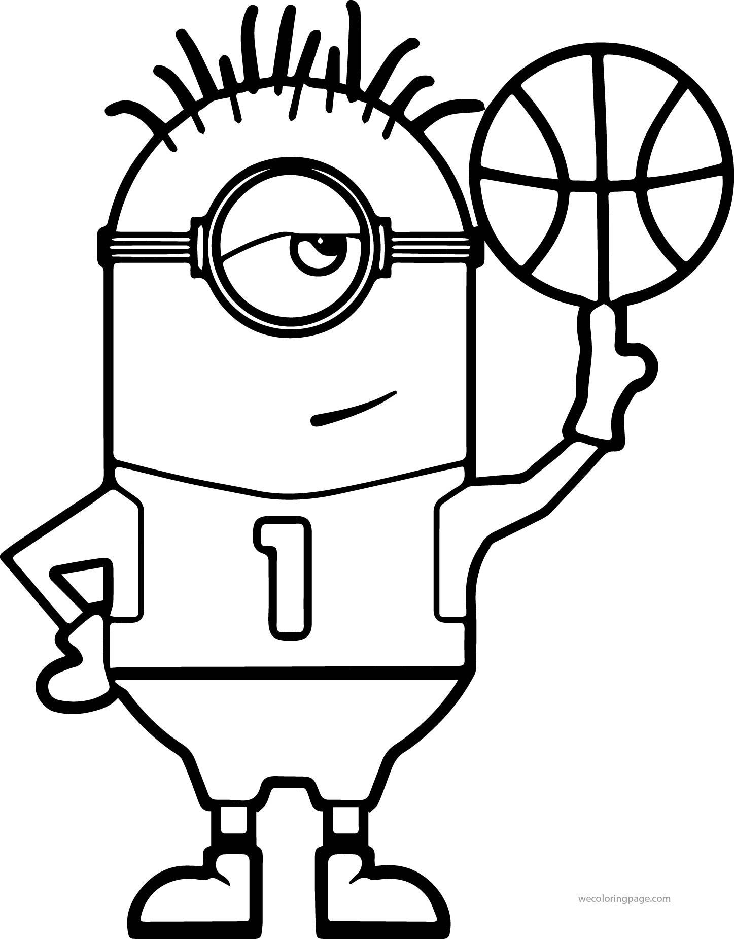 Minion Basketball Coloring Pages In 2020 Omaľovanky
