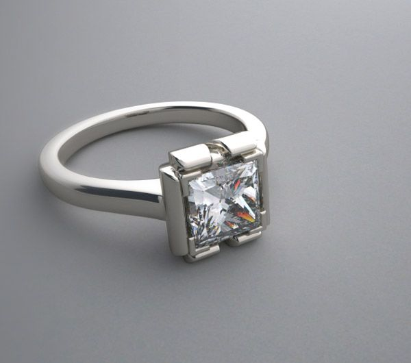 ultra modern wedding rings engagement rings on exclusive modern semi bezel engagement - Modern Wedding Rings