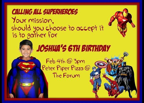 Awesome Superman Birthday Invitations Ideas