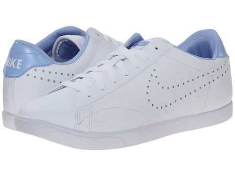 Nike Racquette Leather White/Aluminum/White #Nike #whitesneakers  #summertrend
