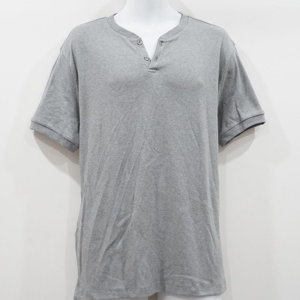 NWT$29 Red Short Sleeve Venice Burnout Notch Henley Tee Lucky Brand Men/'s L