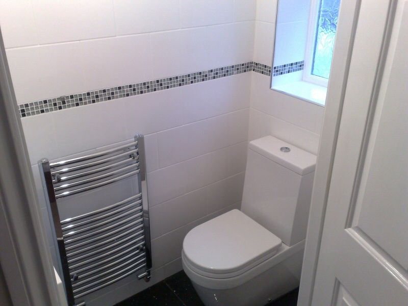 Photo A Good Sized Down Stairs Toilet Fitted For Customer In St - Small cloakroom toilet ideas