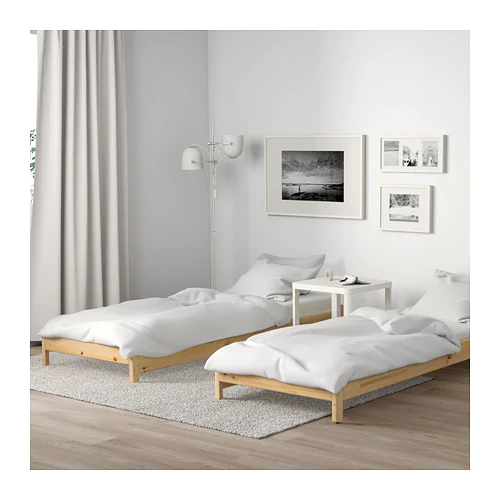 UTÅKER Stackable bed, pine, Twin IKEA in 2020 | Ikea twin