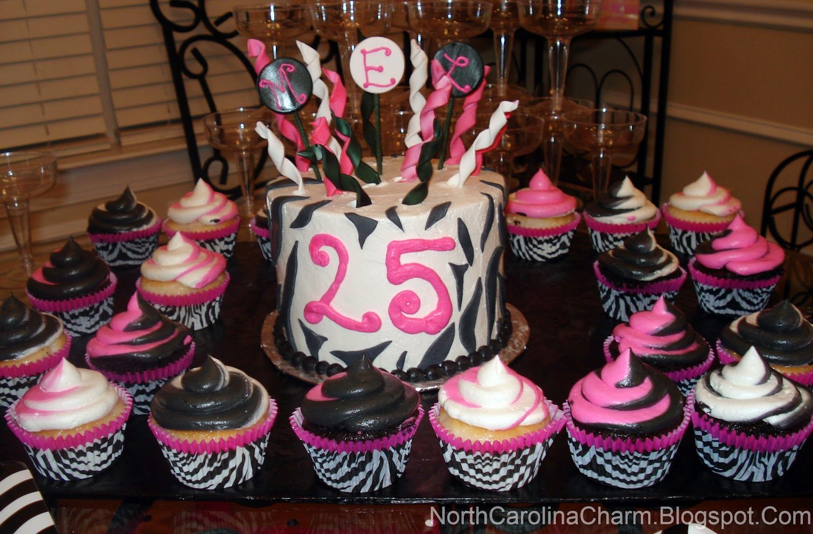 Carolina charm mel 39 s surprise 25th birthday party the for 25th birthday decoration ideas