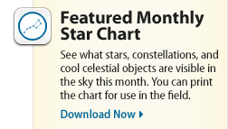 Featured Monthly Star Chart See What Stars Constellations And