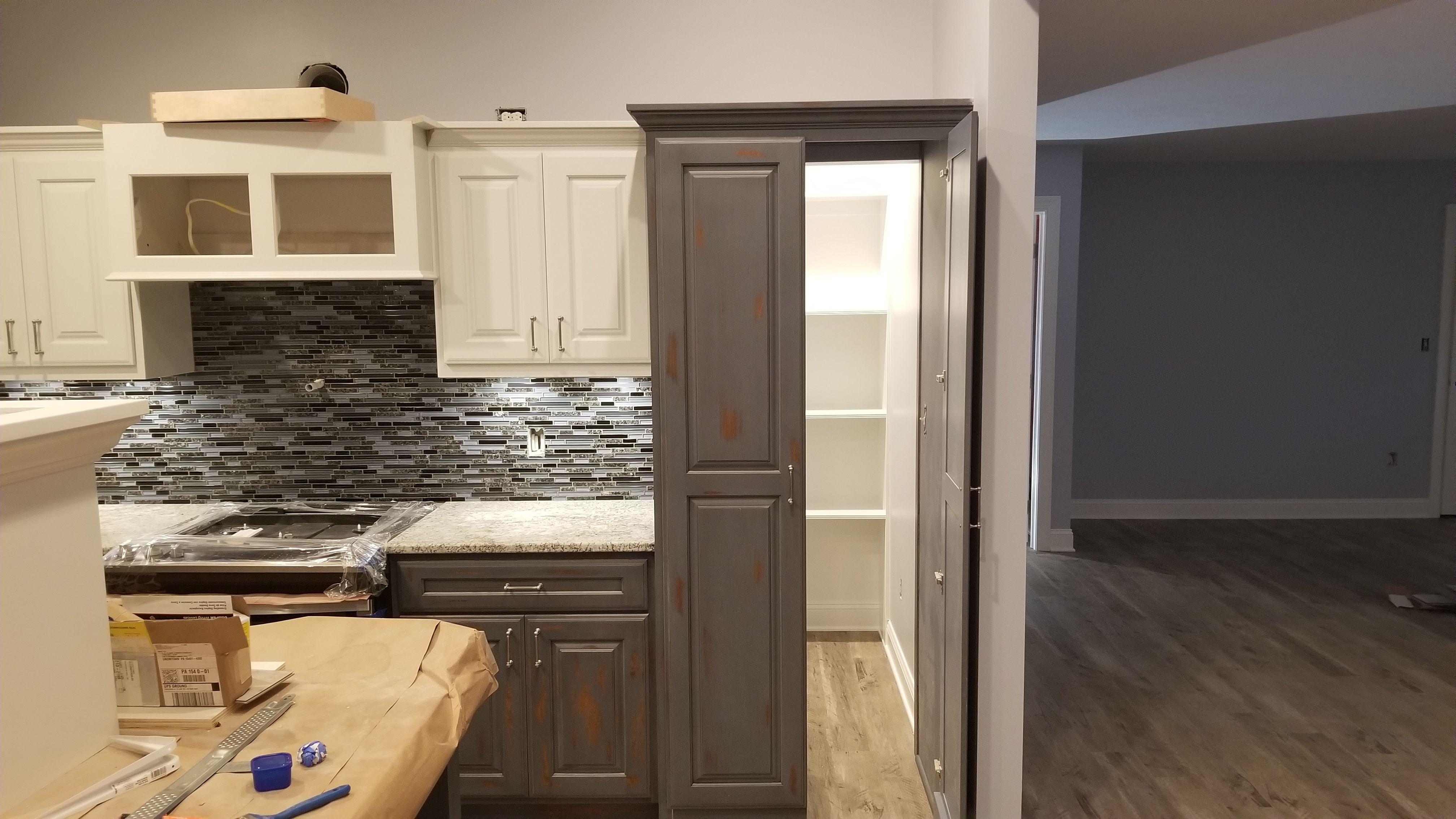 Pantry through cabinet doors | Cabinet doors, Kitchen ...