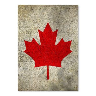 "East Urban Home Canada Flag Graphic Art Size: 14"" H x 11"" W"