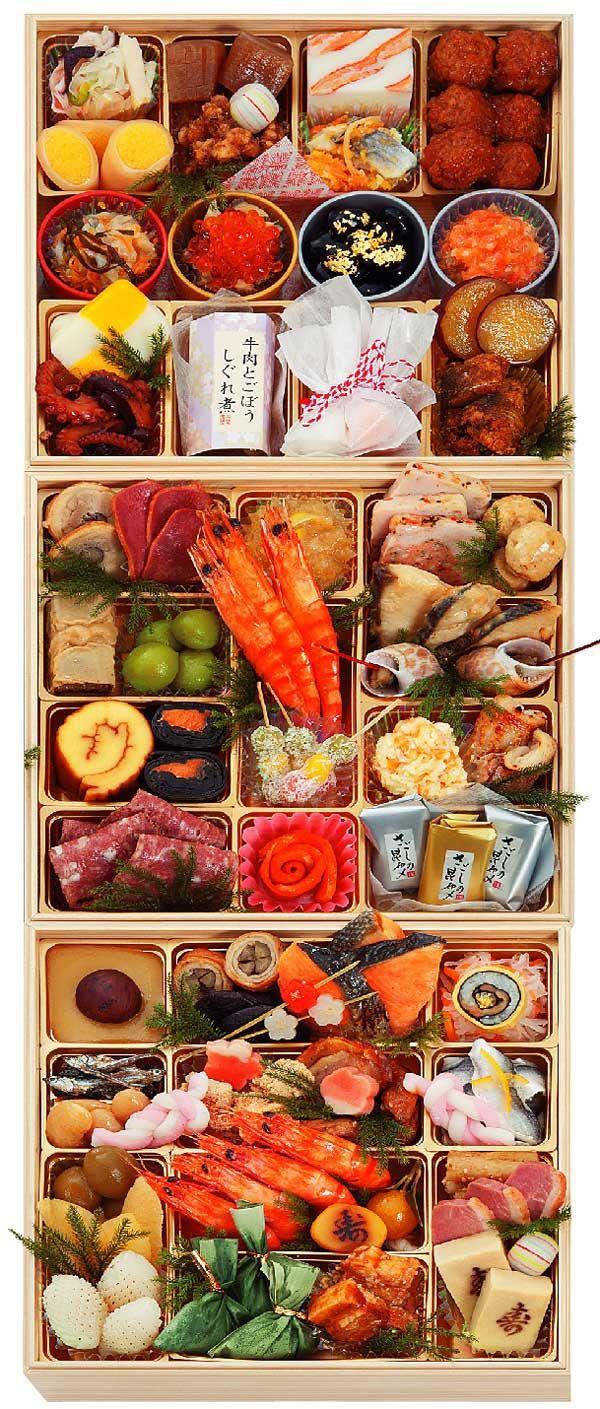 """hokkyokukou """" Osechi Ryori, Japanese Cuisine for New Year"""