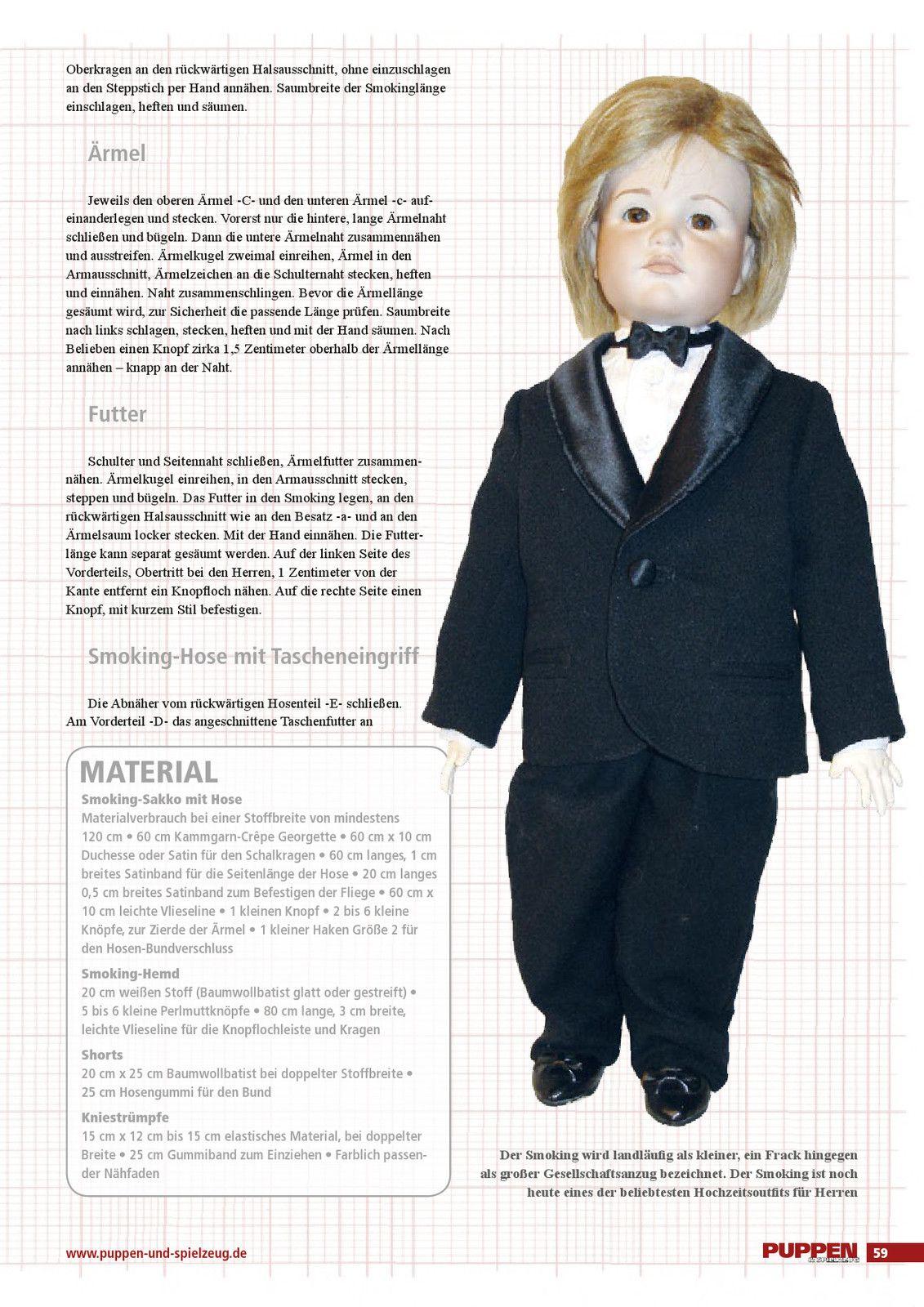 PUPPEN & Spielzeug 4/2012: Gala-Anzug - http://puppen-und-spielzeug ...