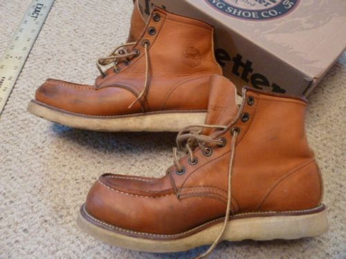 Irish Setter Vintage Red Wing 875 Moc Toe Gold Russet 8.5EE